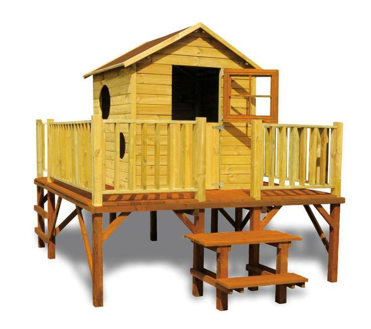 Kinderspielhaus PAUL Kinderhaus Gartenhaus Gartenhäuser Spielhaus Stelzenhaus für Kinder mit Rutsche: Amazon.de: Baumarkt