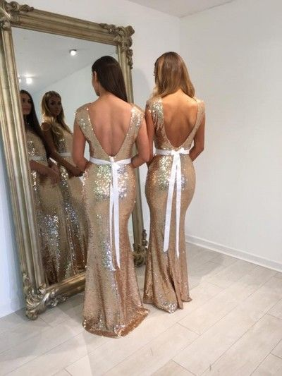 Long bridesmaid dress,sequin bridesmaid dress,glitter bridesmaid dress,mermaid…