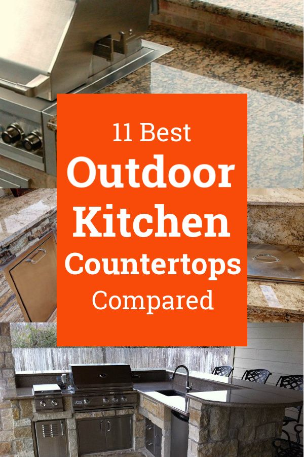 Best Outdoor Kitchen Countertops Compared In 2020 Outdoor Kitchen Countertops Countertops Kitchen Countertop Materials