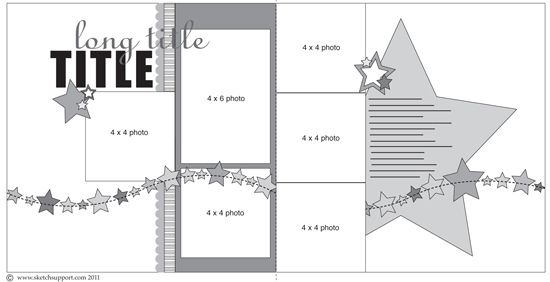 8 x8 scrapbook page layouts | Visit http://www.sketchsupport.com/ to print out a free copy of this ...