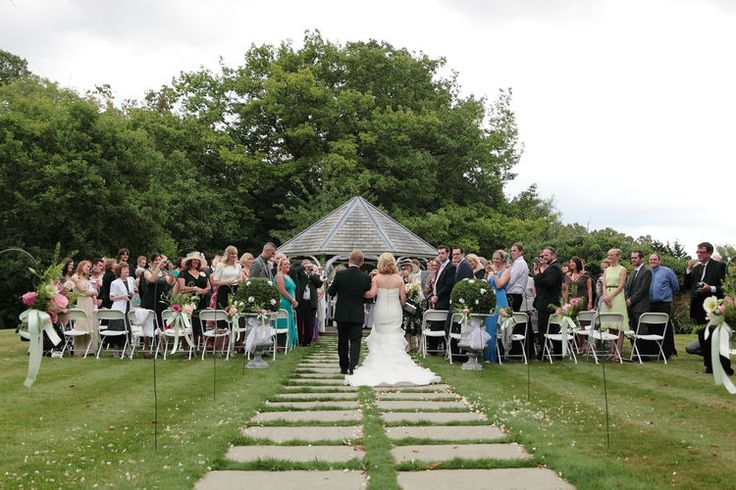 Wedding ceremony image at Rowhill Grange
