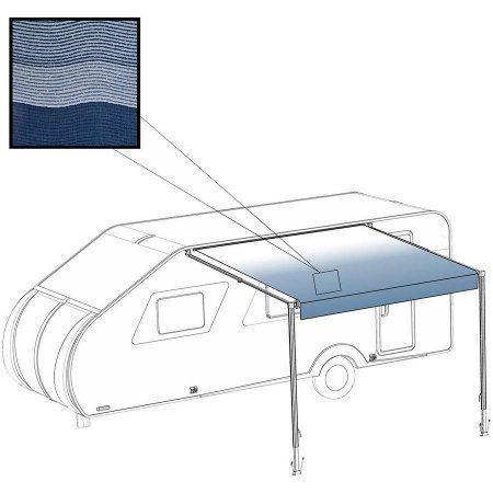 ALEKO 12' x 8' RV Awning Fabric Replacement for Retractable Awning, BLUE STRIPES