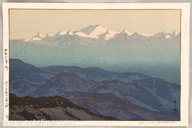 Kanchenjunga, Morning - by Yoshida Hiroshi