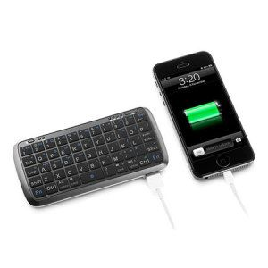 Mini Bluetooth Keyboard with 5000mAh Power Bank - With a massive 5000MAh battery capacity and Bluetooth keyboard capabilities,you can charge all of your mobile phone while typing on your device.