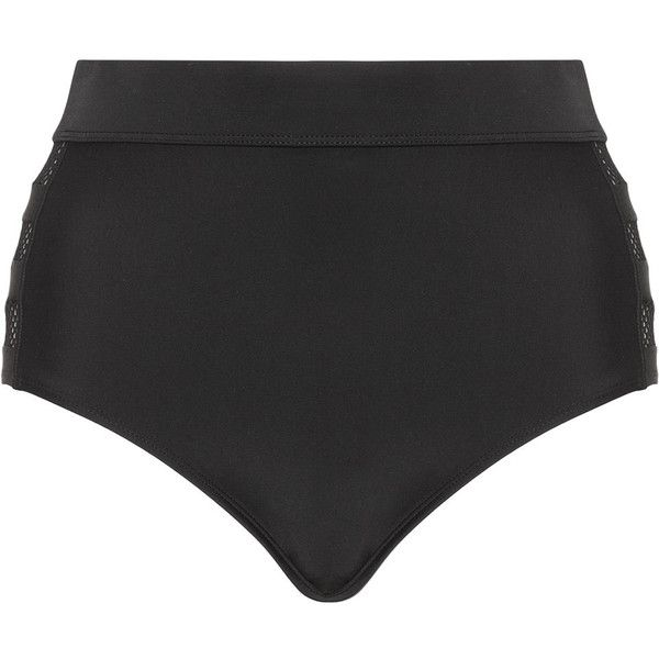 Cactus Black Plus Size Mesh inserts bikini bottoms ($39) ❤ liked on Polyvore featuring swimwear, bikinis, bikini bottoms, plus size, shorts, black, high waisted bikini bottoms, see through bikini, sheer bikini and plus size bikini swimwear