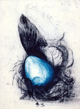 Gift from Little Girl's Hearts -Jane Rusden Drypoint and A-La-Poupee 2013  15 x 20 cm $140.00 Available at www.cascadeprintroom.com.au