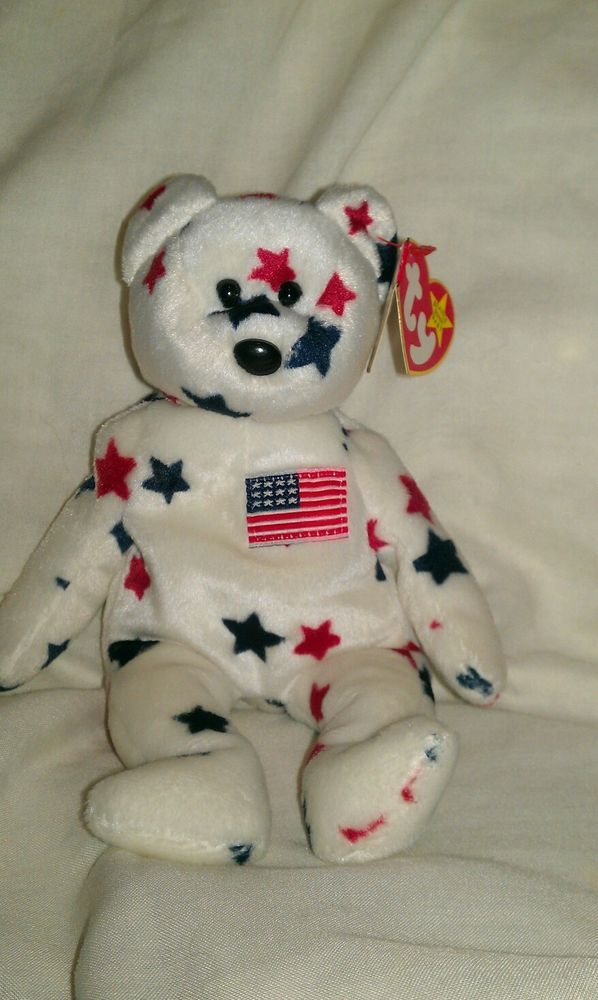 """Retired """"Glory"""" TY beanie baby """"RARE"""" with tag errors"""