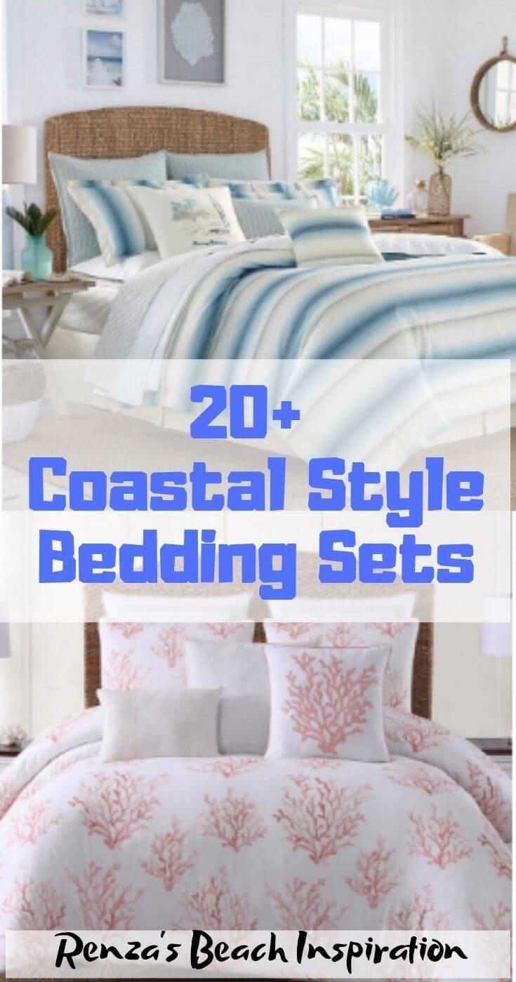 20 Coastal Bedding Sets For Beach Themed Bedroom Bedding Sets