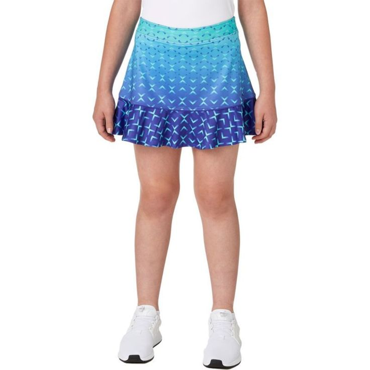 Slazenger Girls' Ombre Printed Flounce Golf Skort, Size: Medium, Purple