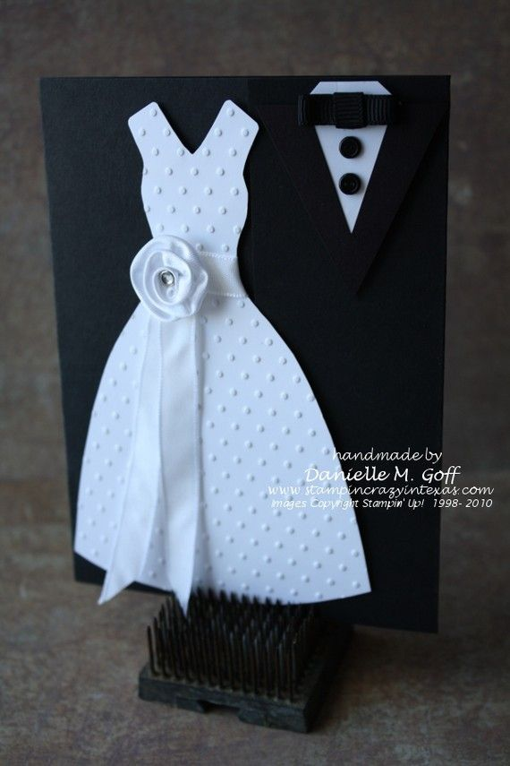 Handmade Bride and Groom Wedding Invitations by stampincrazyintx, $5.00
