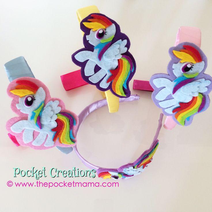 Cerchietto My Little Pony Rainbow Dash. #mylittlepony #rainbowdash #handmade #hairband #felt #feltro #kidswear #accessories #girls