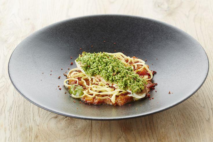 Recept pladijsfilet met kruidencrumble en tomatencompote