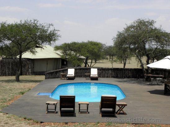 Pool at Singita Sabora Tented Camp - Grumeti Reserves, Tanzania.
