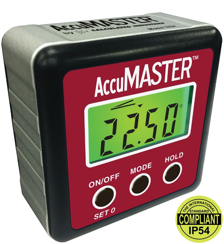Amazon.com: Calculated Industries 7434 AccuMASTER 2-in 1 Magnetic Digital Level and Angle Finder / Inclinometer / Bevel Gauge, Latest MEMs Technology, Certified IP54 Dust and Water Resistant: Home Improvement