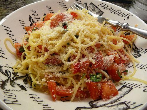 My cousin's recipe for Bruchetta Pasta