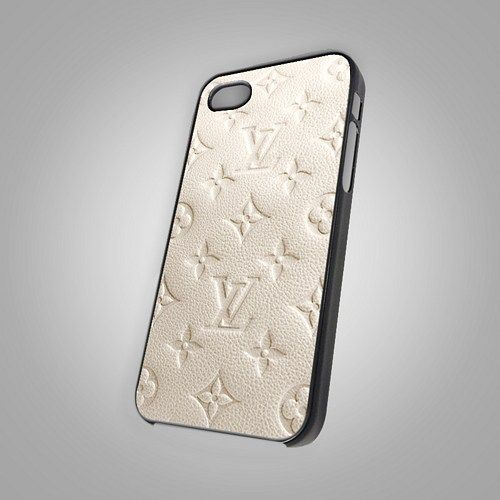 """Louis Vuitton White Color Print on Hard Plastic For iPhone 5 Case, Black Case  This case is available for: iPhone 4/4S iPhone 5/5S iPhone 6 4.7"""" screen Samsung Galaxy S4 Samsung Galaxy S5 iPod 4 iPod"""