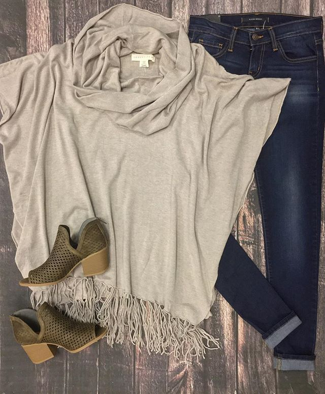 Perfect your winter style with a Love Stitch clothing poncho!