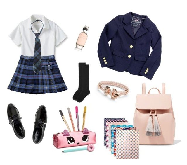 """school"" by nanaristha on Polyvore featuring Lands' End, French Toast, Dear Frances, Accessorize, Loeffler Randall and Comme des Garçons"