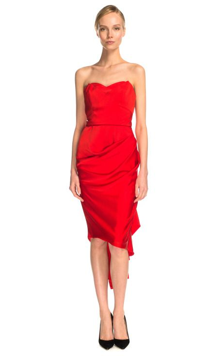 1000  ideas about Strapless Red Dress on Pinterest - Red cocktail ...