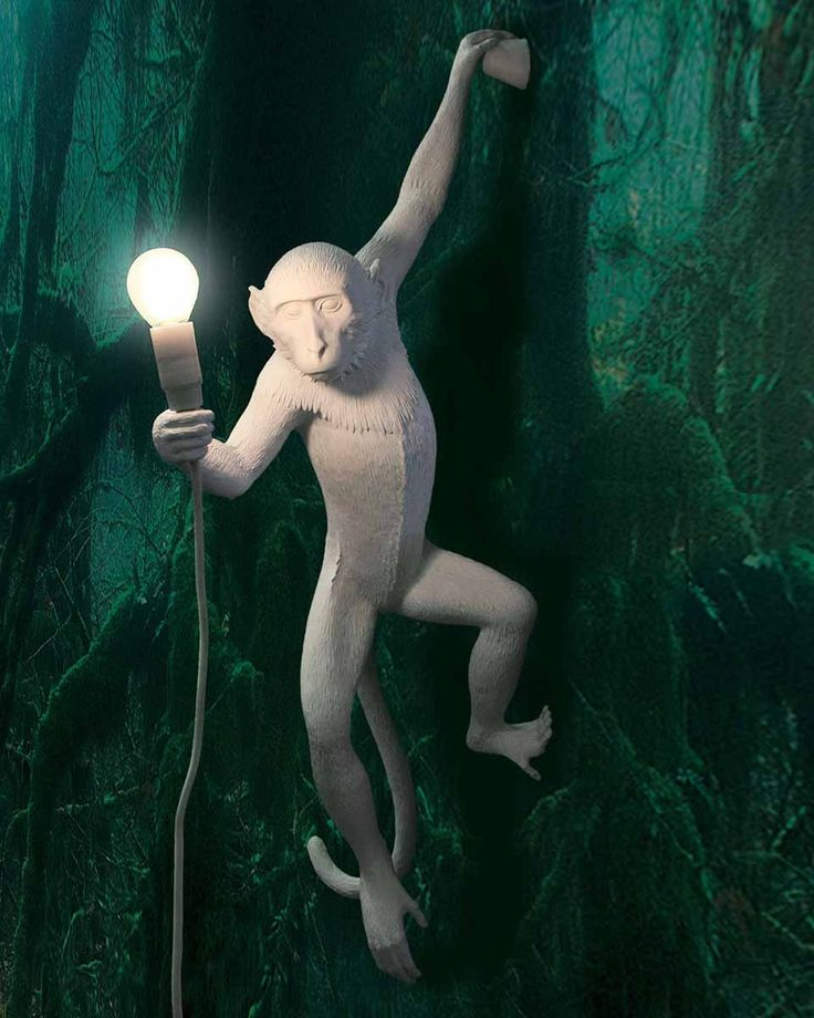 Primate Lighting Monkey Lamp - Hanging by Seletti at Dotmaison