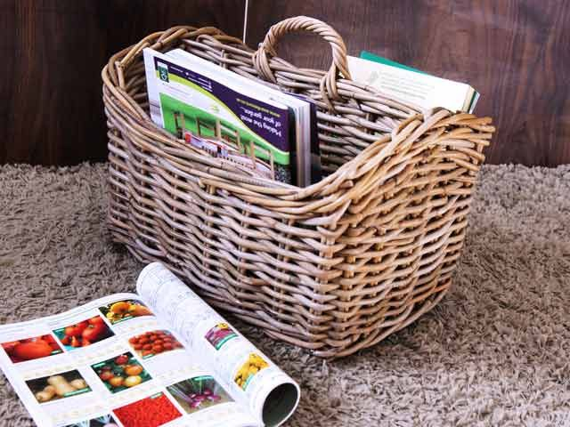 Magazine Basket #storage #wicker #crafts #basket