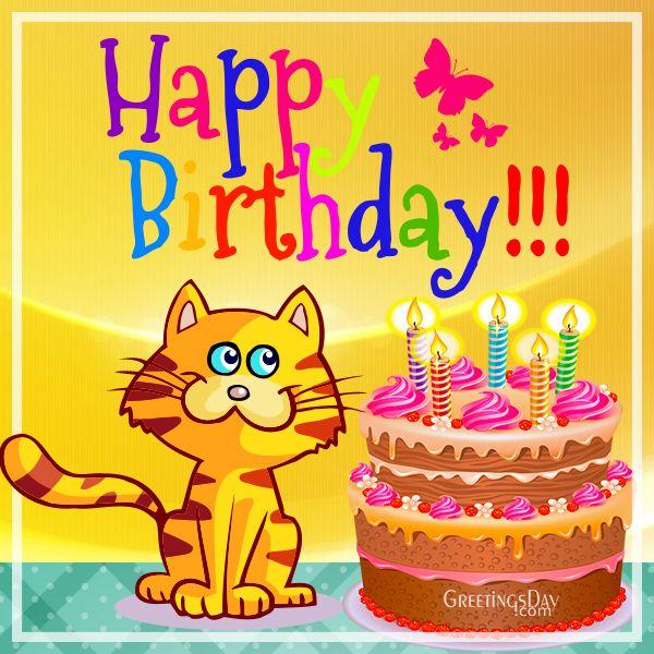 """Vaizdo rezultatas pagal užklausą """"Happy birthday cats images"""""""