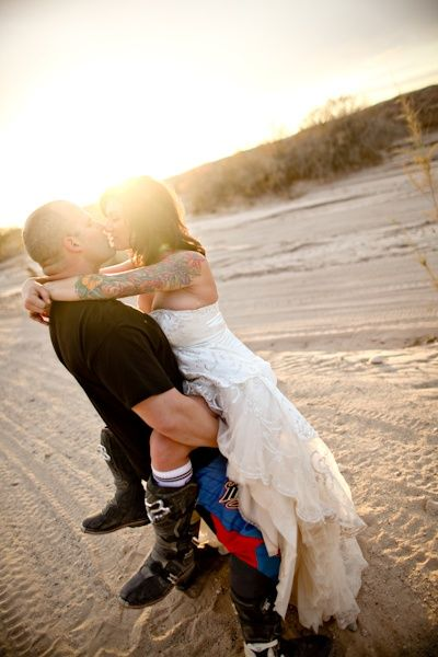Dirtbiking wedding :).  That crazy moment when u find pics if yourself that r pinned by other people. Thank u Rock N Roll bride