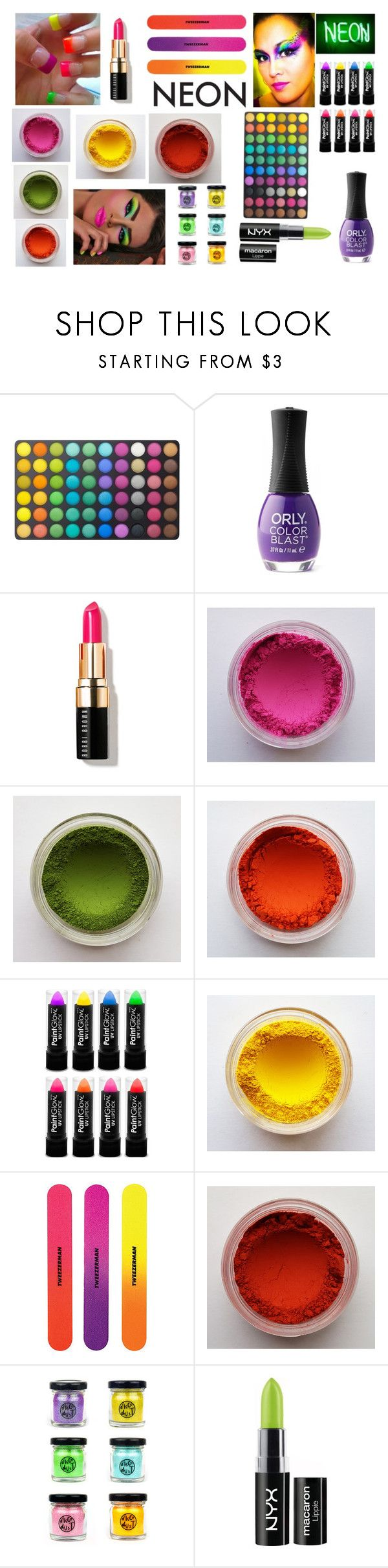 """What a Neon Beauty!!"" by emily-dickson-1 ❤ liked on Polyvore featuring beauty, BHCosmetics, ORLY, Bobbi Brown Cosmetics and NYX"