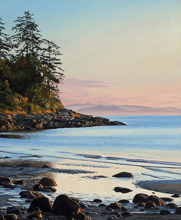 Arbutus Cove Oil Painting