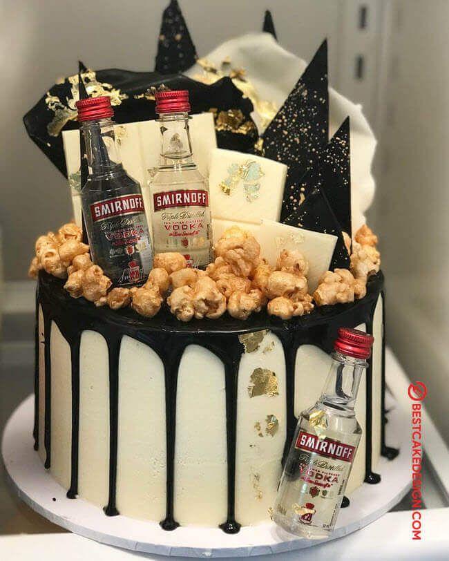 50 Vodka Cake Design Cake Idea October 2019 Special Birthday Cakes Alcohol Birthday Cake Candy Birthday Cakes