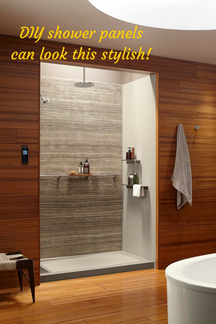Decorative DIY shower wall panels do not have to look like something cheap and off the shelf from a big box store. Learn 5 things nobody will tell you about shower and tub wall panels in this article. Click here - http://blog.innovatebuildingsolutions.com/2015/06/20/5-tells-shower-tub-wall-panels/