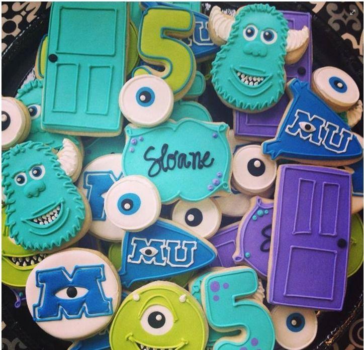 Monsters University cookies by Icings by Ang