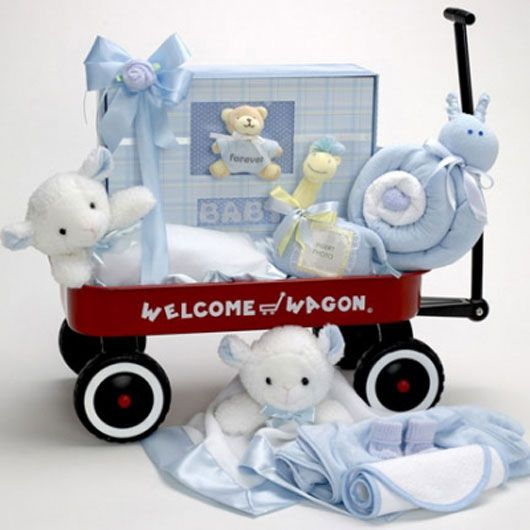 137 best baby cakes gift sets images on pinterest baby cakes forever baby welcome wagon boy negle Image collections