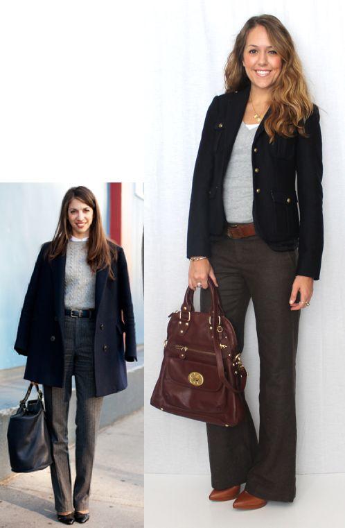 neutrals: dress pants + sweater + belt + blazer + pumps {J's Everyday Fashion: Today's Everyday Fashion: Dress Pants}