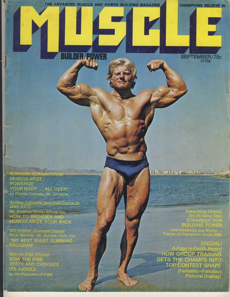 44 Vintage Muscle Builder Power Magazines '70 '71 '72 '73 '74 '75 '76 '77 '78