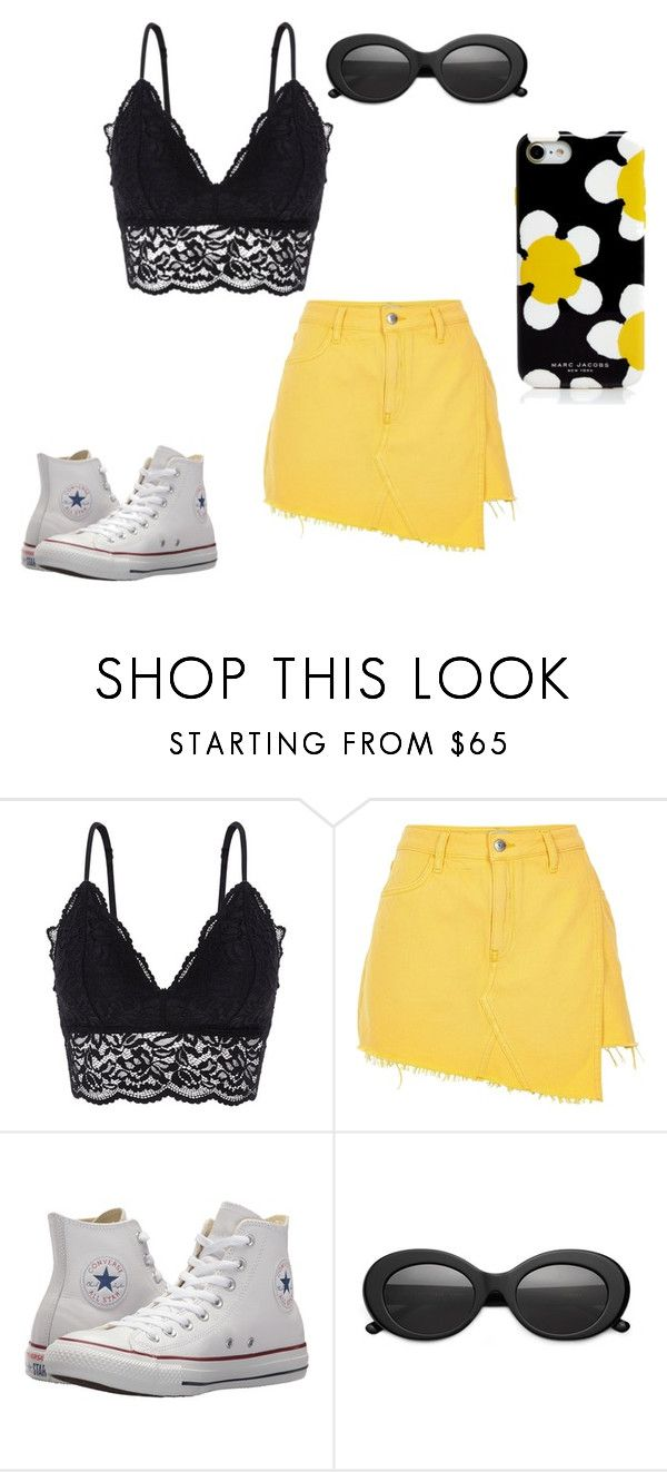 """""""Hello Sunshine"""" by anne-maren-weisser-fredriksen ❤ liked on Polyvore featuring Oysho, River Island, Converse, Crap and Marc Jacobs"""