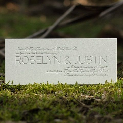 Roselyn | Letterpress Wedding Stationery by Deciduous Press