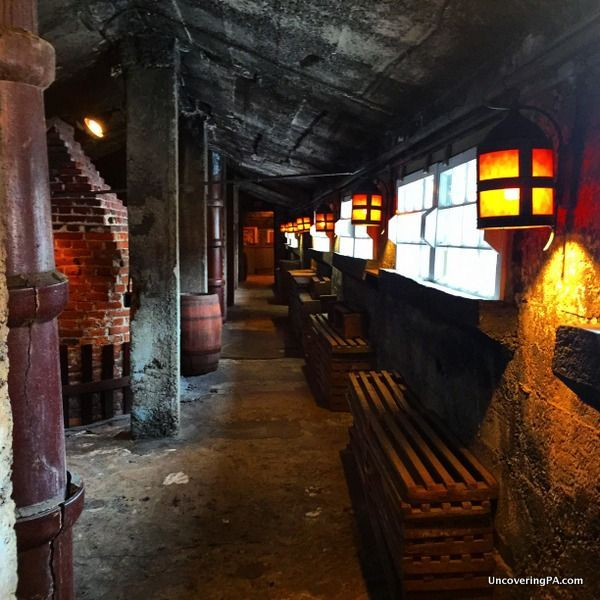 The old coal kilns in the Moravian Pottery and Tile Works in Doylestown, Pennsylvania - http://uncoveringpa.com/visiting-moravian-pottery-tile-works
