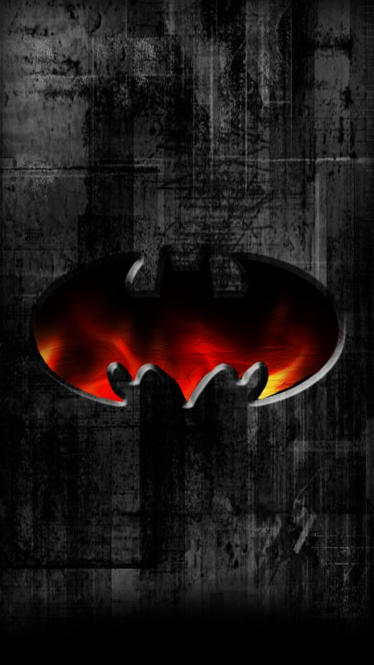 cool batman logo wallpaper for android and iphone - Ten Pixe