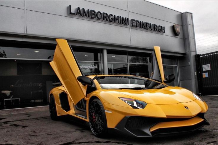 Lamborghini Aventador Super Veloce Coupe painted in Giallo Orion  Photo taken by: @lamborghiniedinburgh on Instagram   Owned by: @ade_harris on Instagram