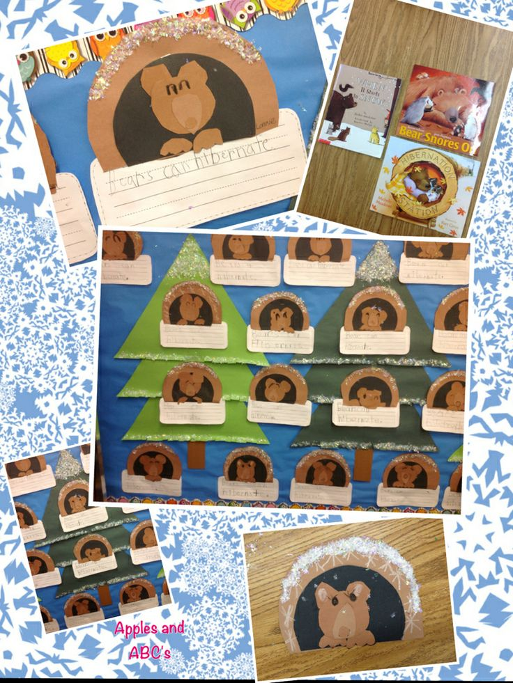 Hibernating Bears Craft (Apples & ABC's) - maybe each child chooses a different animal instead of all the same