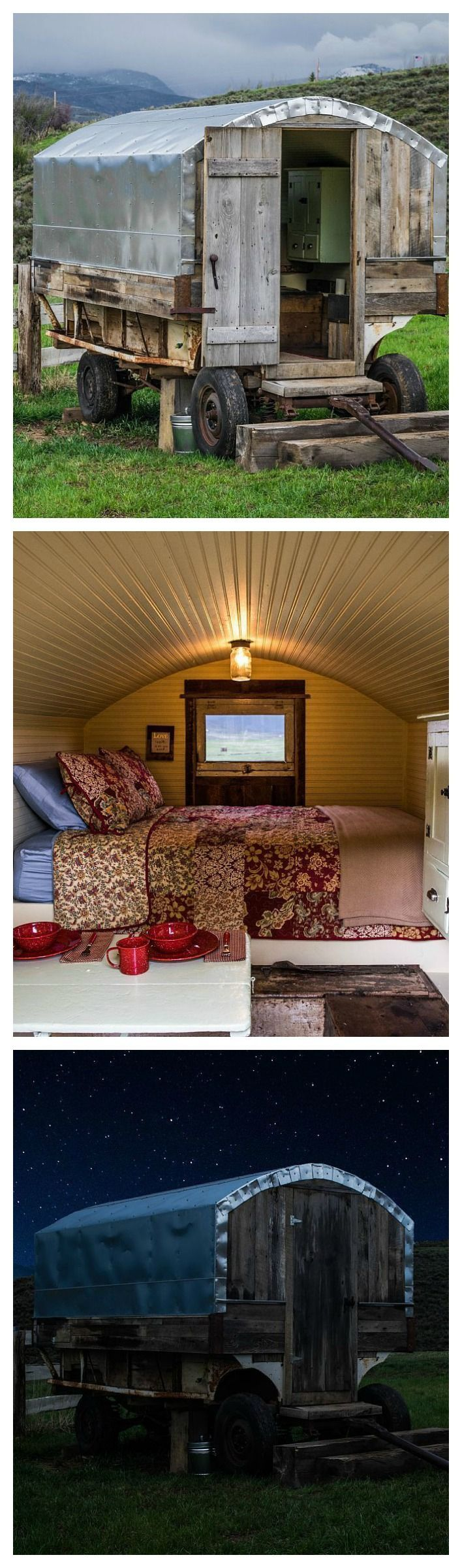 For anyone who's ever daydreamed about living like Laura Ingalls Wilder, this unique 1930s sheepherder's wagon is one way to indulge your Little House on the Prairie fantasies.