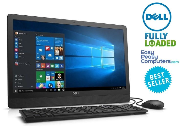 """All in One DELL Computer 23.8"""" Windows 10 WIFI 4GB 500GB DVDRW (FULLY LOADED)"""