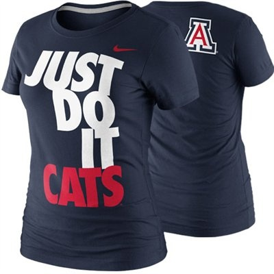 Nike Arizona Wildcats Ladies DNA T-Shirt - Navy Blue