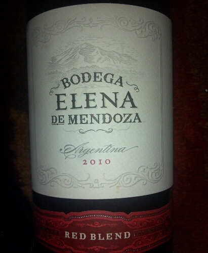 Red Blend, Bodega Elena , Argentina