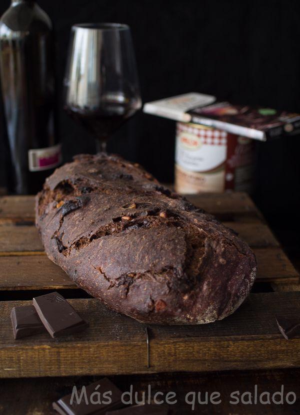 Más dulce que salado: Pan de chocolate y vino tinto con naranja confitad...