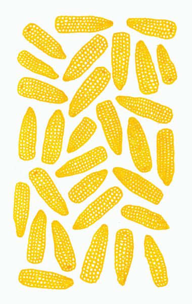 Corn #Jaune sur #Blanc