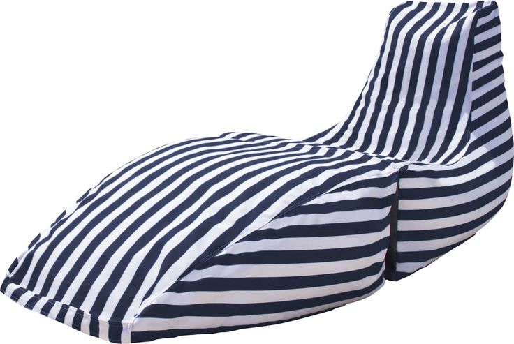 Prado Outdoor Striped Bean Bag Chaise Lounge Chair with Price : $ 159.99