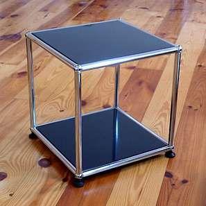 Bild: USM HALLER Tisch Beistelltisch Möbel Schwarz 35x35xcm Graphitschwarz