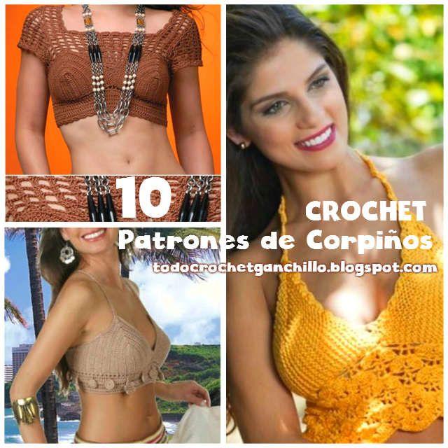 Todo crochet: 10 Patrones de Corpiños para tejer al crochet